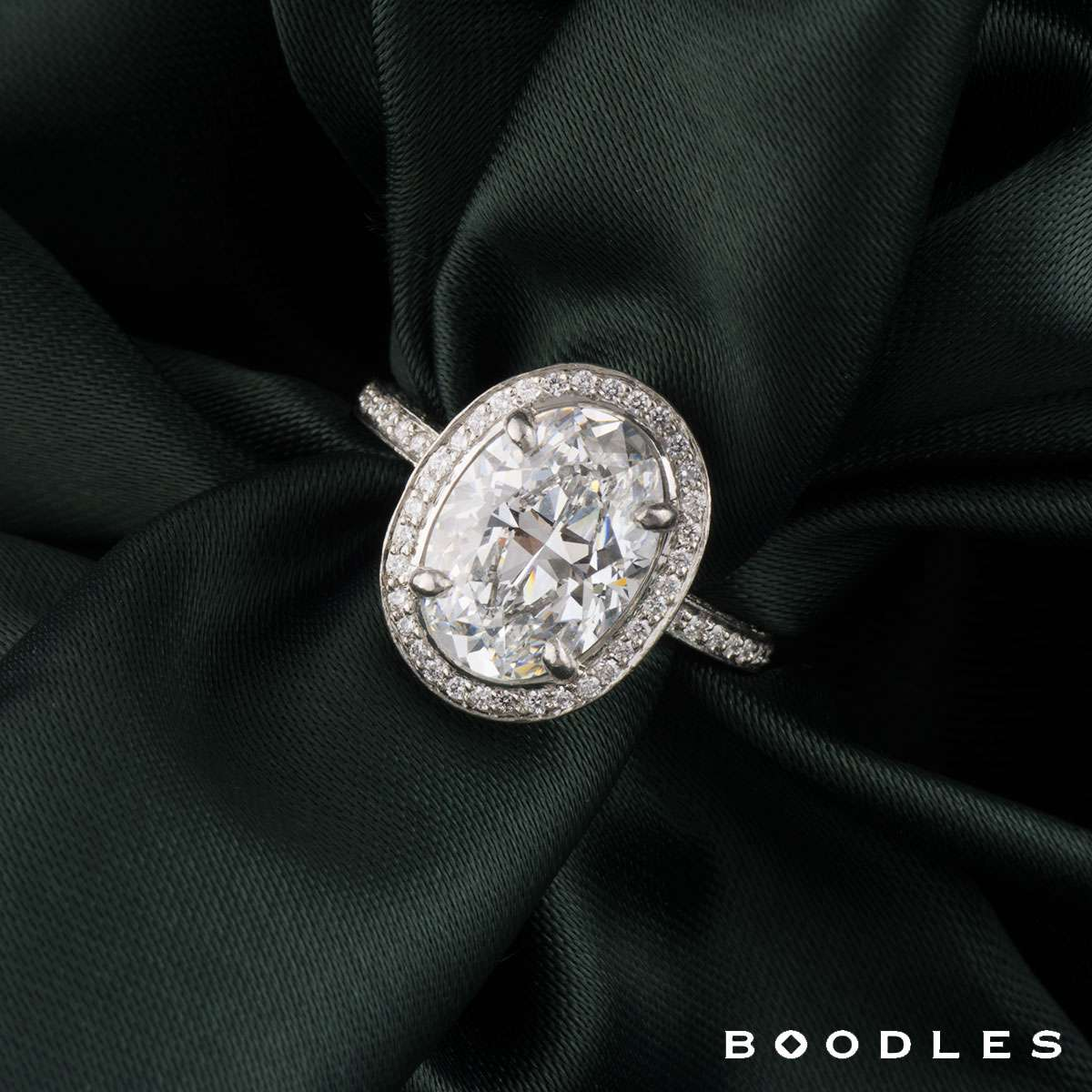 Boodles Oval Cut Diamond Ring in Platinum 3.02ct D/VS2